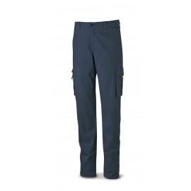 Pantalón ELÁSTICO, algodón y elastano. Color Azul marino.
