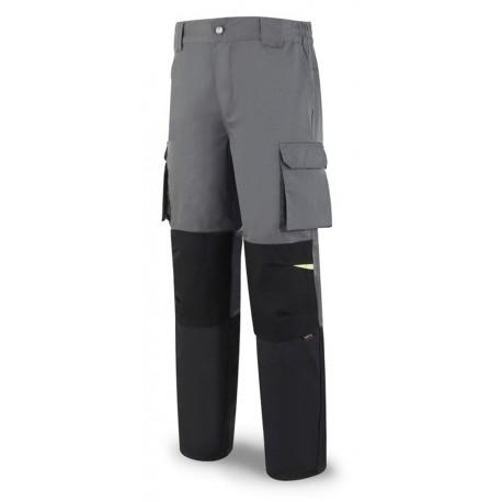 Pantalón tergal 245 g. Color gris oscuro/negro.